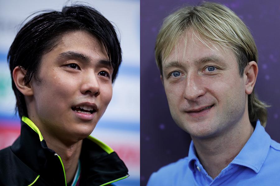 羽生(左)とプルシェンコ氏【写真:Getty Images】