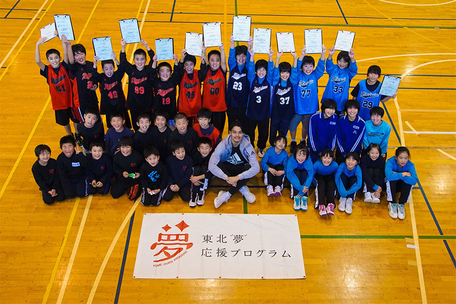 イベントの最後では子供たちが「夢宣言」を行った【写真:村上正広】