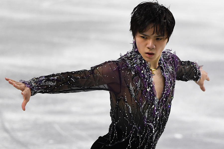 ショートプログラム(SP)1位の宇野昌磨(トヨタ自動車)【写真:Getty Images】