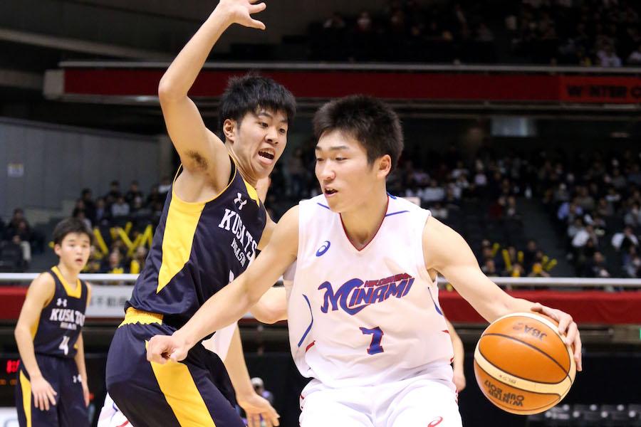 チーム最多の35得点を挙げた広島皆実・大道【写真:平野貴也】