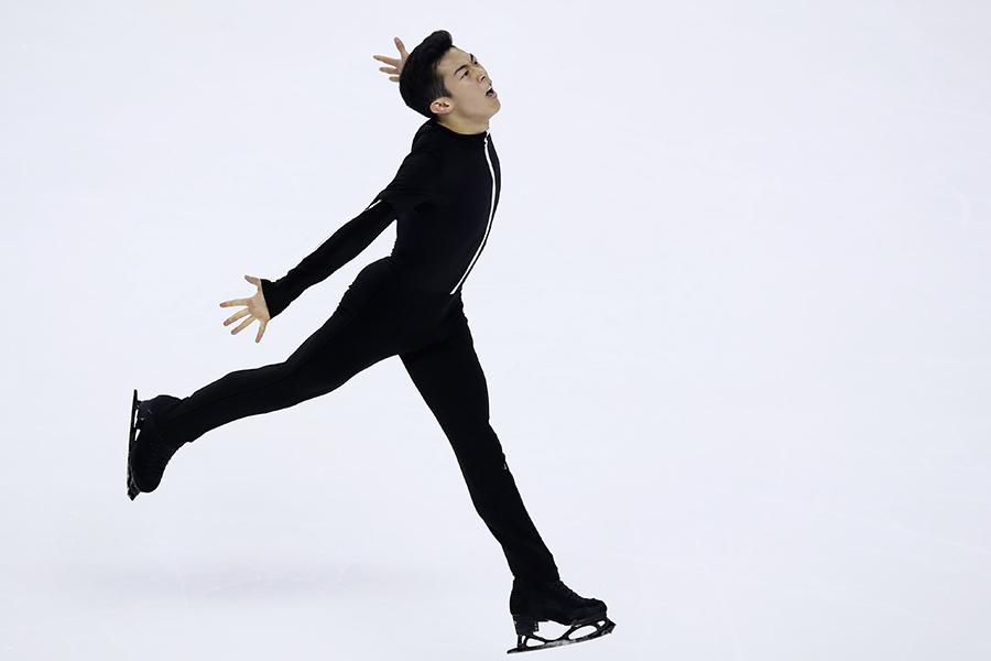 全米選手権SPで唯一の100点超えを記録したネイサン・チェン【写真:Getty Images】
