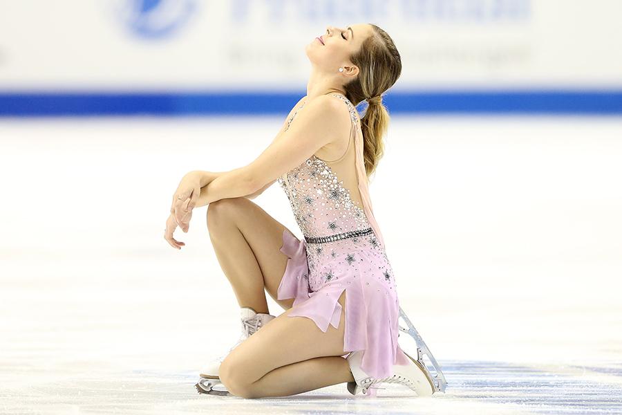 全米選手権では4位となったアシュリー・ワグナー【写真:Getty Images】