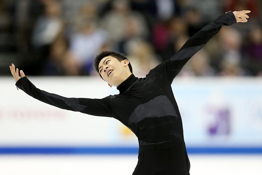 平昌五輪のフィギュアスケート男子代表に選出されたネイサン・チェン【写真:Getty Images】