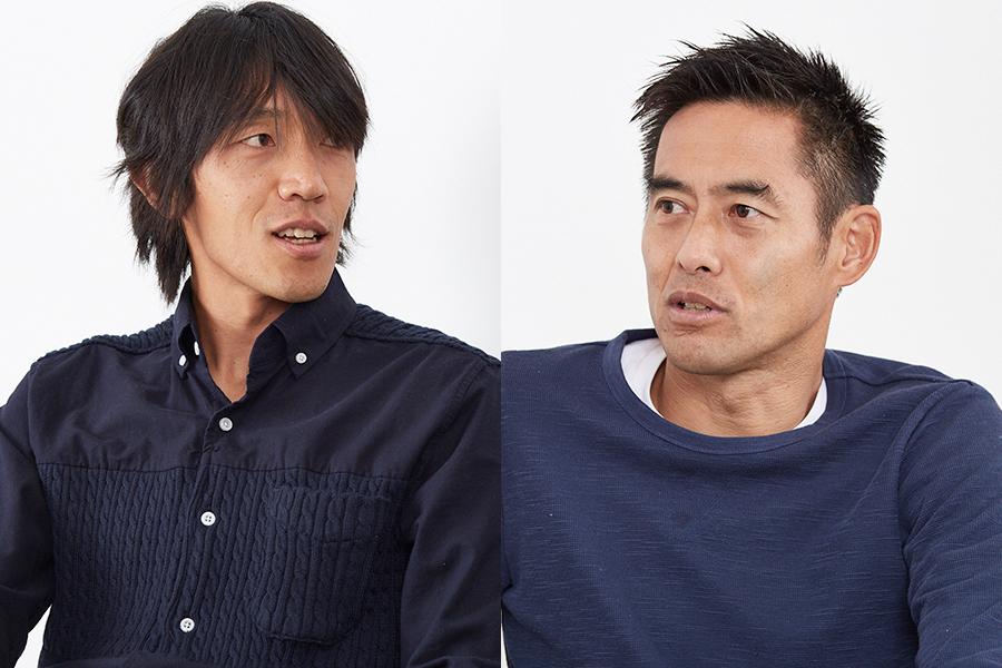 引き際に対する考えも交わした中村俊輔(左)と川口能活(右)【写真:RYUGO SAITO】