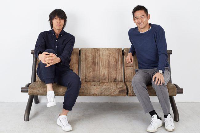 日本サッカーが誇る天才ファンタジスタ・中村俊輔(左)と希代の名GK川口能活(右)【写真:RYUGO SAITO】