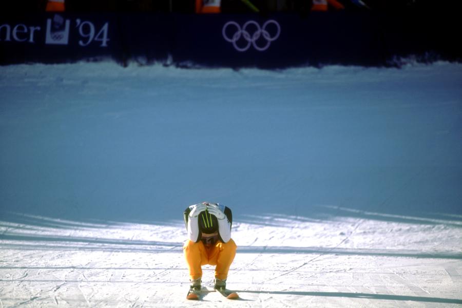 1994年リレハンメル大会時の原田雅彦【写真:Getty Images】