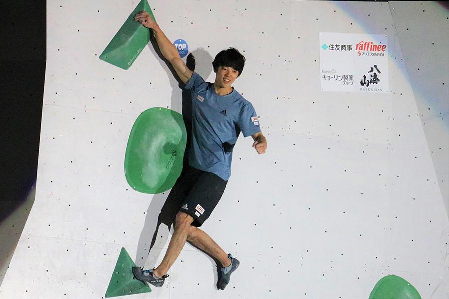 ボルダリング・ジャパンカップで史上初の3連覇を達成した藤井快【写真:編集部】