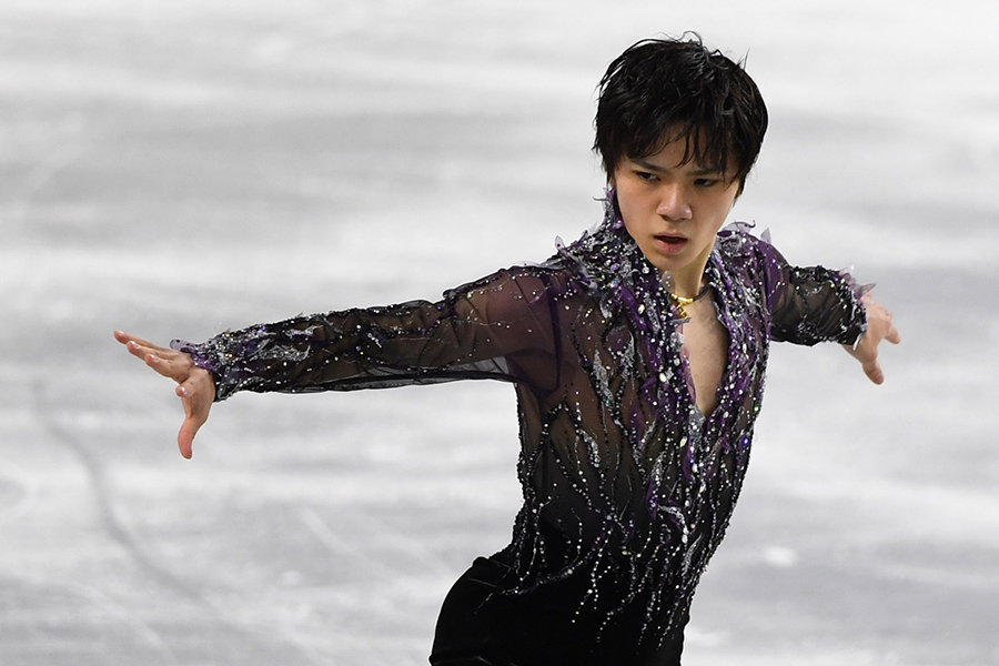 首位発進の宇野昌磨【写真:Getty Images】