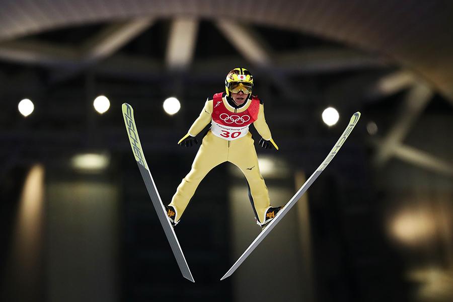 スキージャンプ男子ノーマルヒルで21位となった葛西紀明【写真:Getty Images】