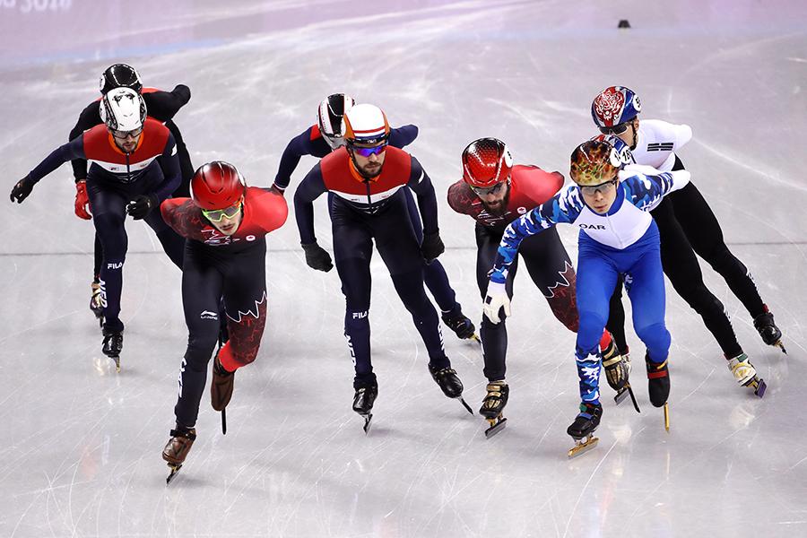 男子ショートトラック1500メートルは韓国のイム・ヒョンジュンが金メダルに輝いた【写真:Getty Images】