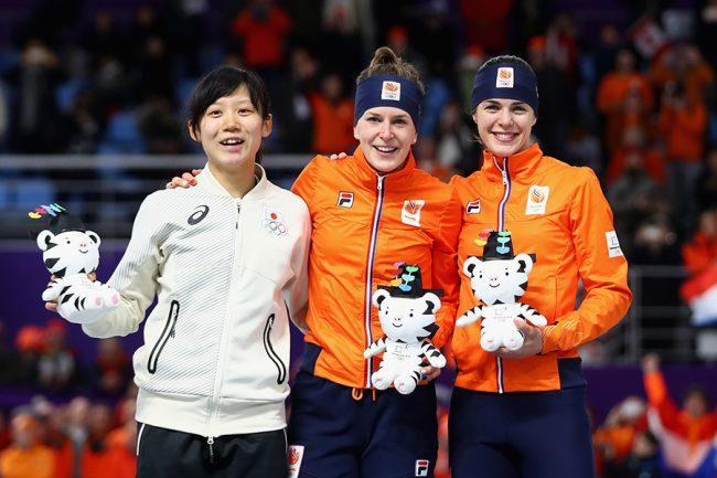 スピードスケート女子1500メートルで銀メダルに輝いた高木美帆【写真:Getty Images】
