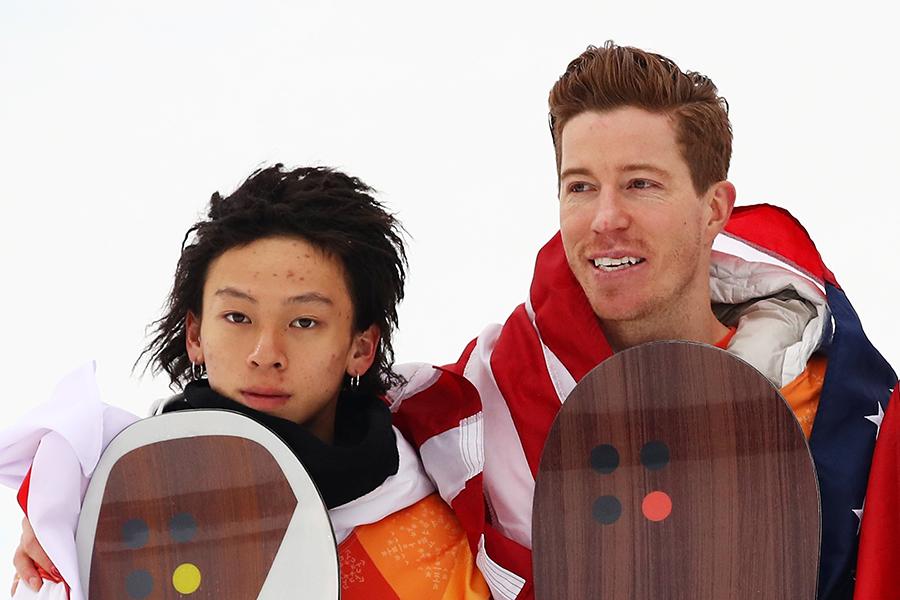 平野歩夢、ショーン・ホワイト【写真:Getty Images】