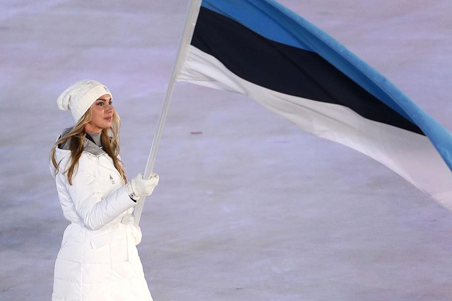開会式から大きな話題を呼んだサスキア・アルサル(エストニア)【写真:Getty Images】