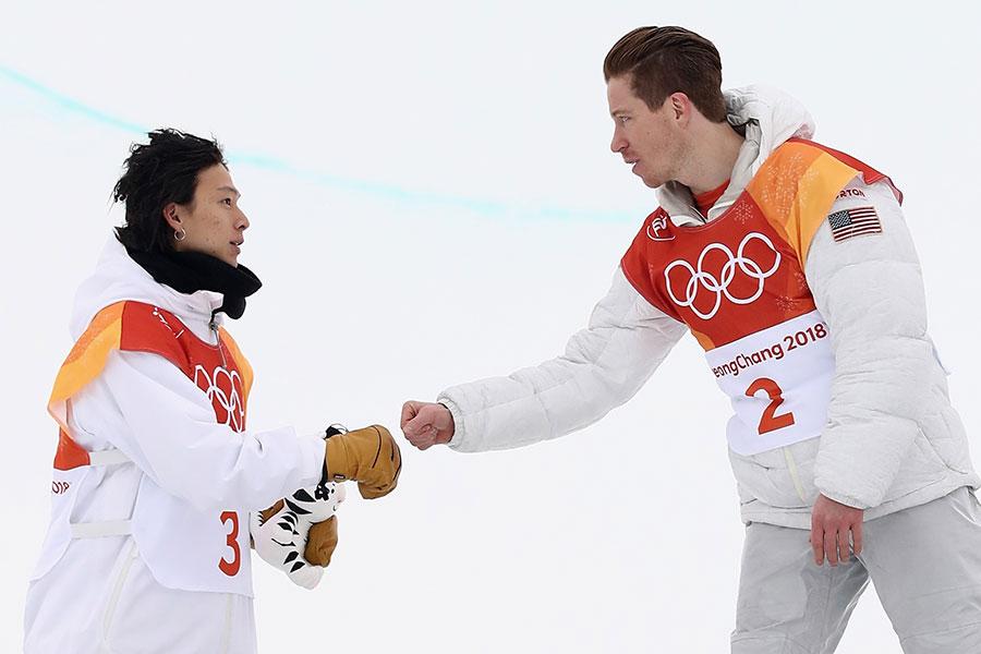 大技をぶつけ合った平野歩夢とショーン・ホワイト【写真:Getty Images】