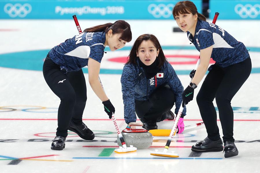 平昌五輪に参加中の女子日本代表【写真:Getty Images】