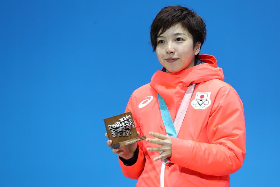 女子1000メートルで銀メダルを獲得した小平奈緒【写真:Getty Images】