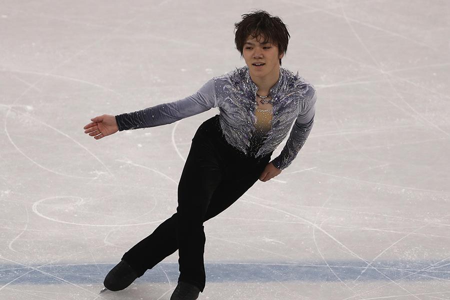 SPを3位で終えた宇野昌磨【写真:Getty Images】