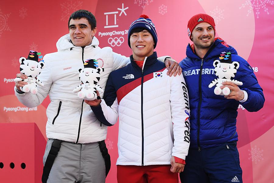 男子スケルトンは韓国のユン・ソンビンが金メダルを獲得【写真:Getty Images】