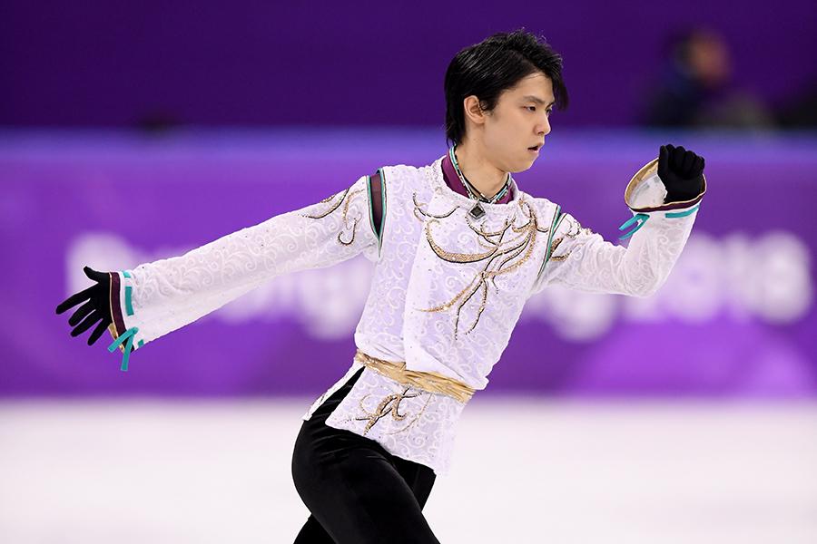 66年ぶりの連覇で金メダルに輝いた羽生結弦【写真:Getty Images】