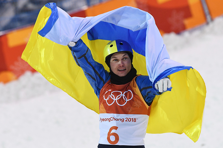 フリースタイルスキー 男子エアリアルで金メダルを獲得したアブラメンコ(ウクライナ)【写真:Getty Images】