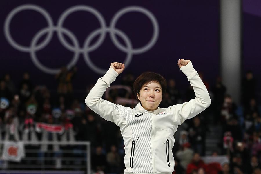 五輪新記録で金メダルを獲得した小平奈緒【写真:Getty Images】