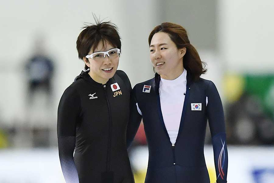 小平奈緒とイ・サンファ【写真:Getty Images】