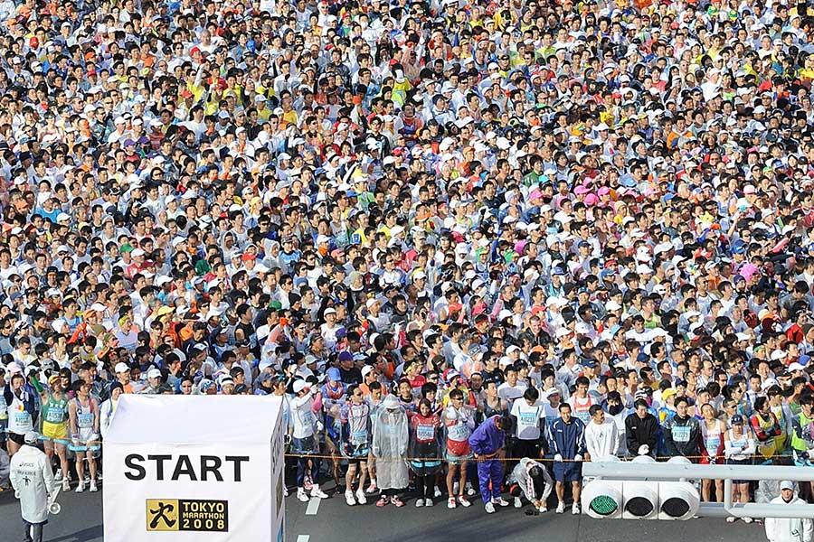毎年数多くの市民ランナーが参加する東京マラソン【写真:Getty Images】