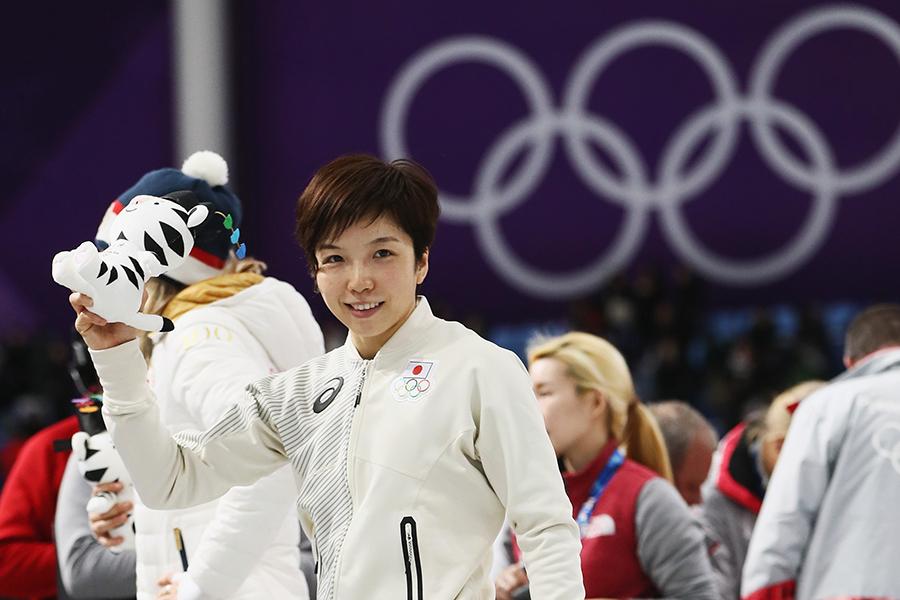スピードスケート女子500メートルで金メダルに輝いた小平奈緒【写真:Getty Images】
