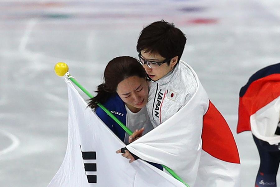 イ・サンファ、小平奈緒【写真:Getty Images】
