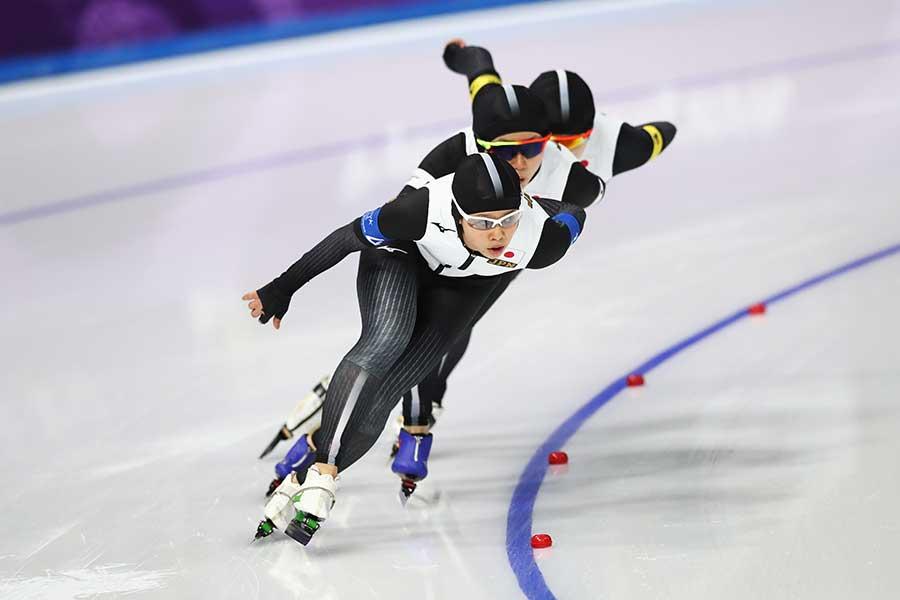 日本女子パシュートは五輪レコードで金メダルを獲得【写真:Getty Images】