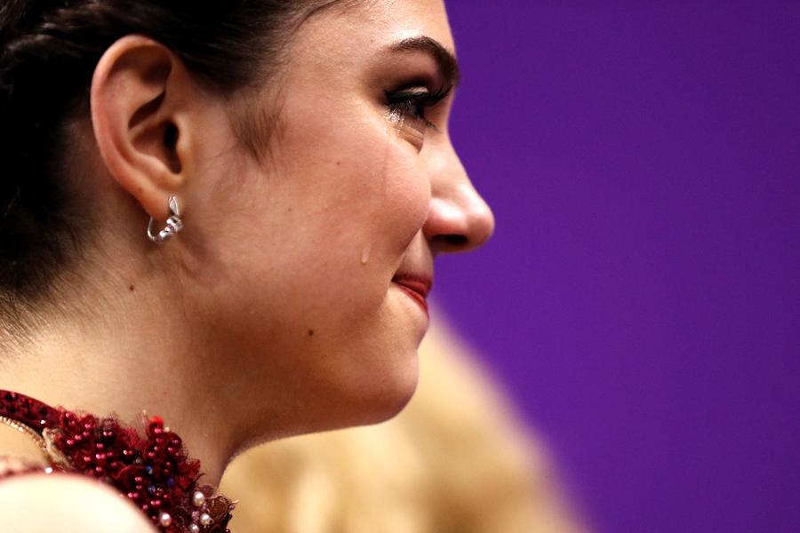 銀メダルを獲得したエフゲニア・メドベージェワ【写真:Getty Images】