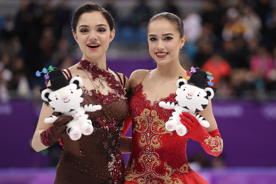ナショナルチーム入りが決まったメドベージェワとザギトワ【写真:Getty Images】