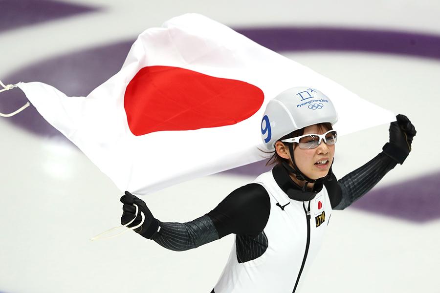 金メダルを獲得した高木菜那【写真:Getty Images】