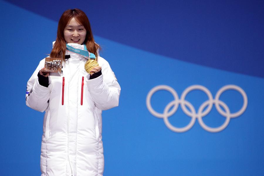 金メダルを獲得したチェ・ミンジョン【写真:Getty Images】