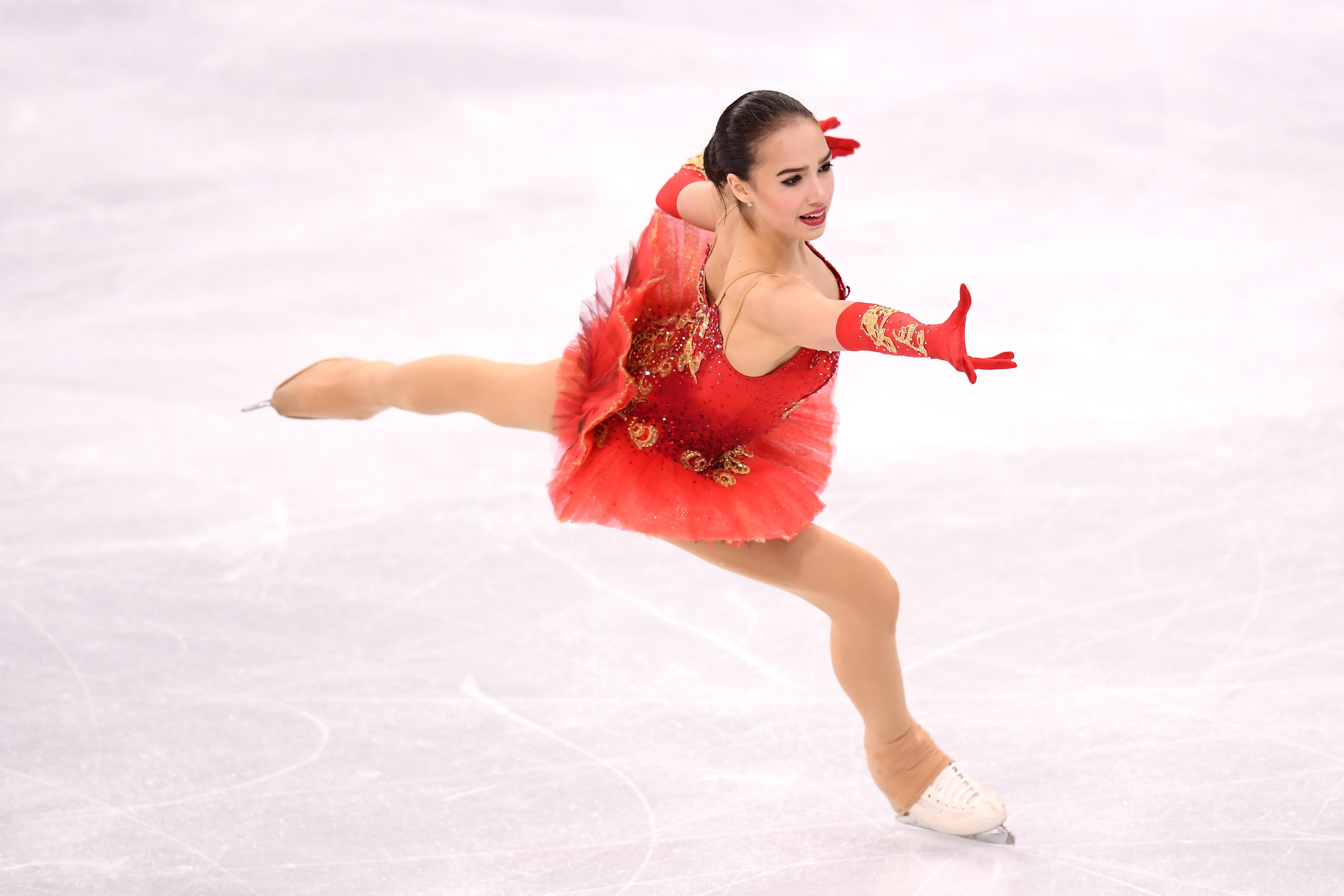 金メダルを獲得したアリーナ・ザギトワ【写真:Getty Images】