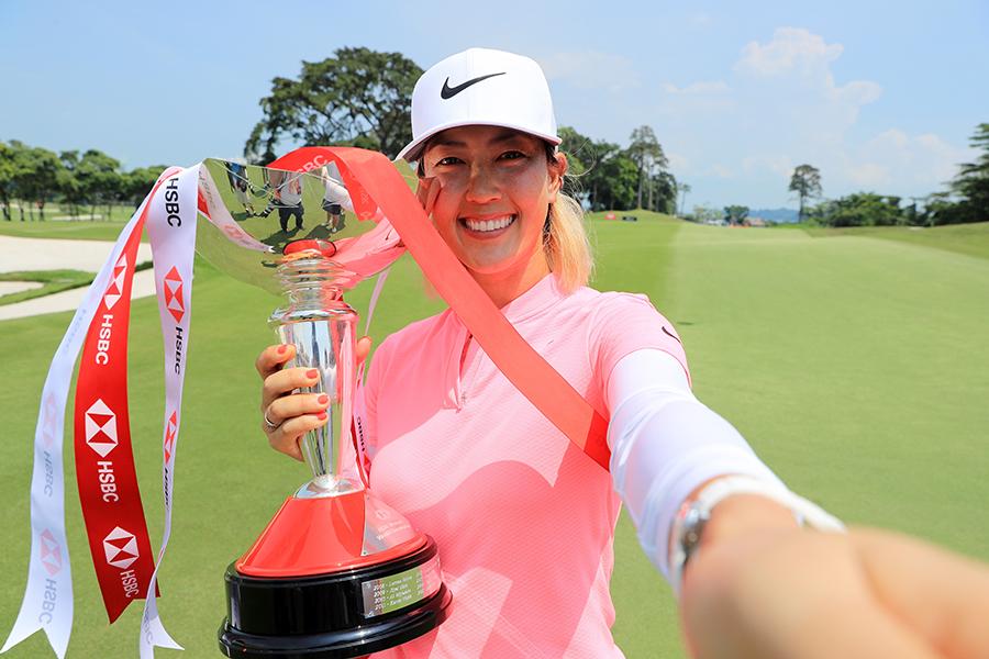 2014年の全米女子オープン以来、4年ぶりの優勝を決めたミシェル・ウィー【写真:Getty Images】