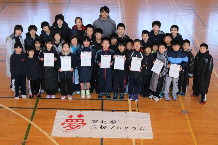 子供たちは取り組んできた成果発表を行い、渡邉氏に成長ぶりを披露した【写真:編集部】