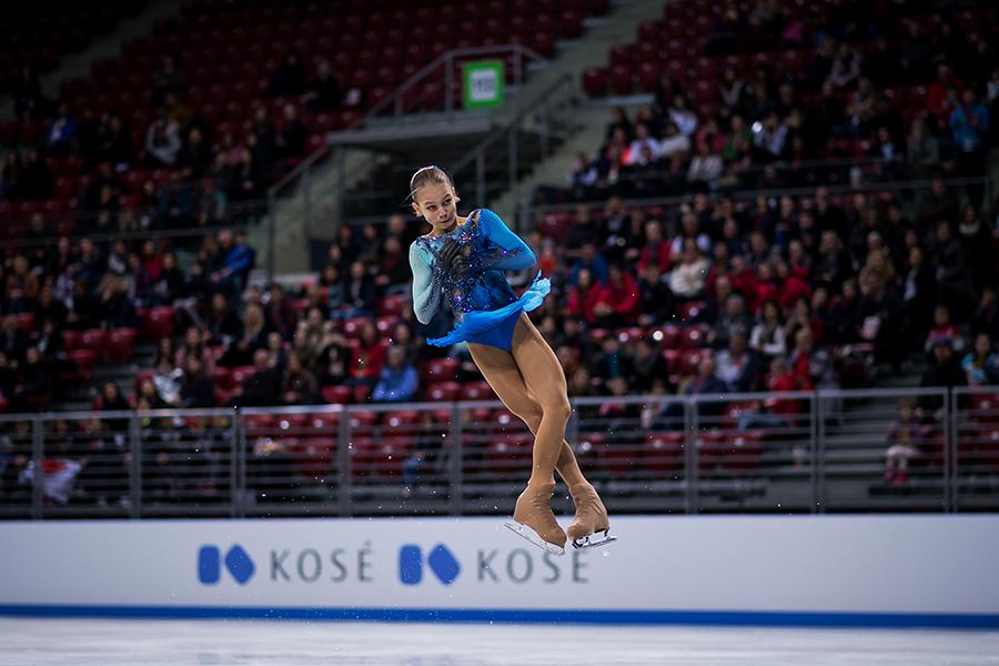 2度の4回転ジャンプを成功させるなど圧巻の演技を披露したアレクサンドラ・トルソワ【写真:Getty Images】