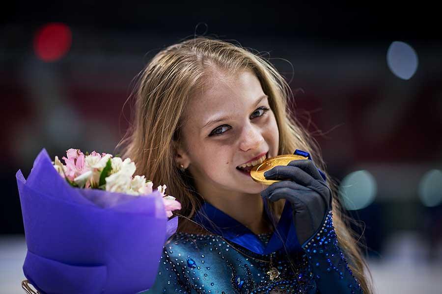 圧巻の演技を披露したアレクサンドラ・トルソワ【写真:Getty Images】