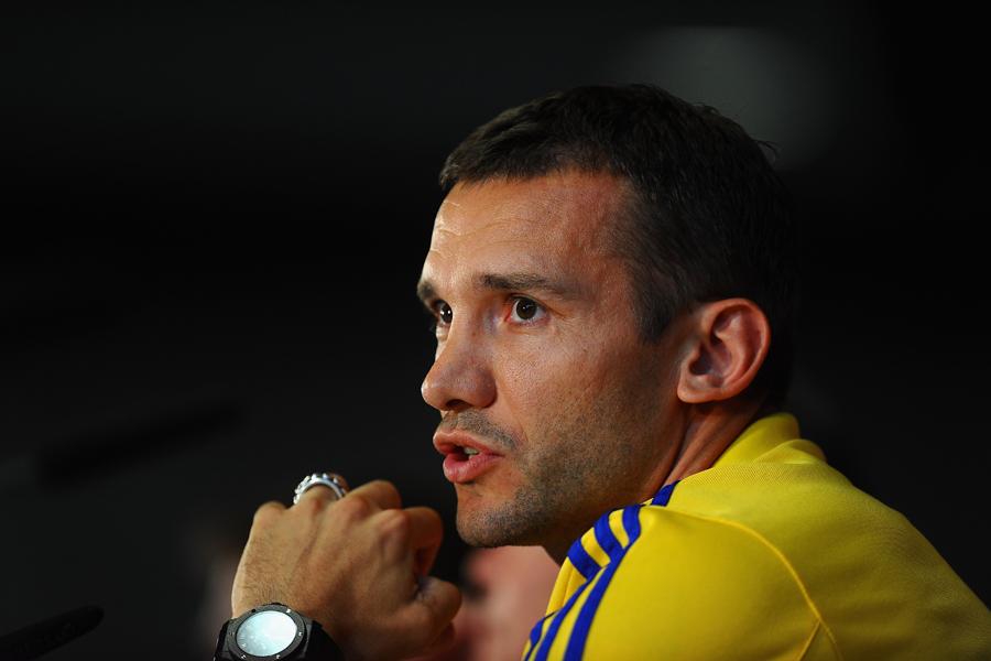 ウクライナ代表のアンドリー・シェフチェンコ監督【写真:Getty Images】
