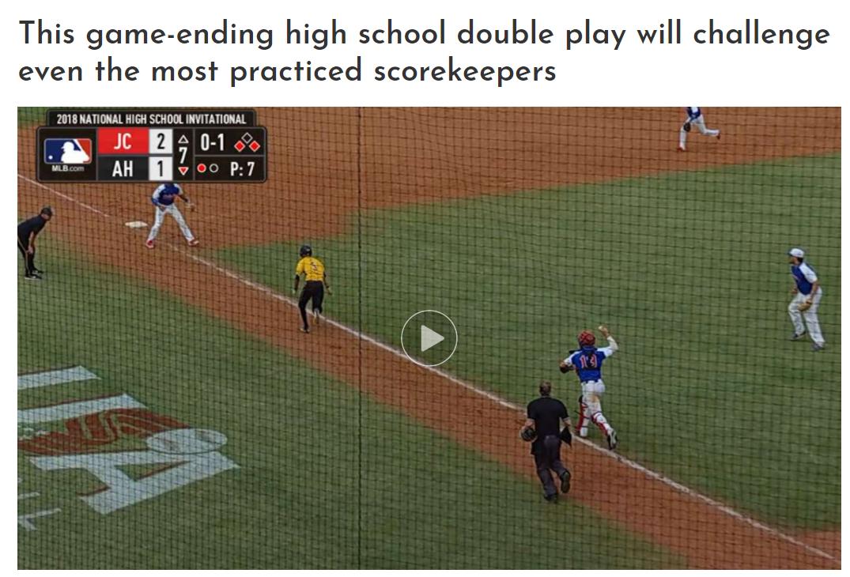 高校野球大会で起きた巧みな挟殺プレーを「Cut4」が特集(写真はスクリーンショット)