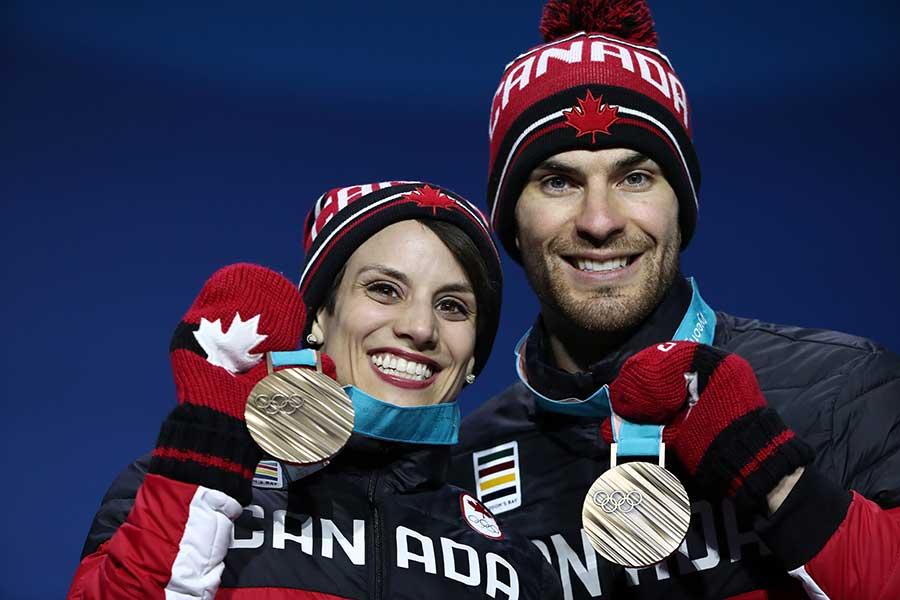 平昌五輪で銅メダルを獲得したエリック・ラドフォード、メーガン・デュハメルのペア【写真:Getty Images】