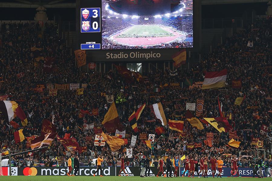 ローマがバルサに奇跡の逆転勝利【写真:Getty Images】