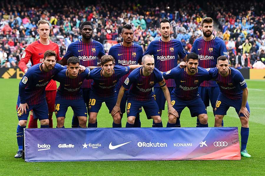 新記録を樹立したバルセロナ【写真:Getty Images】