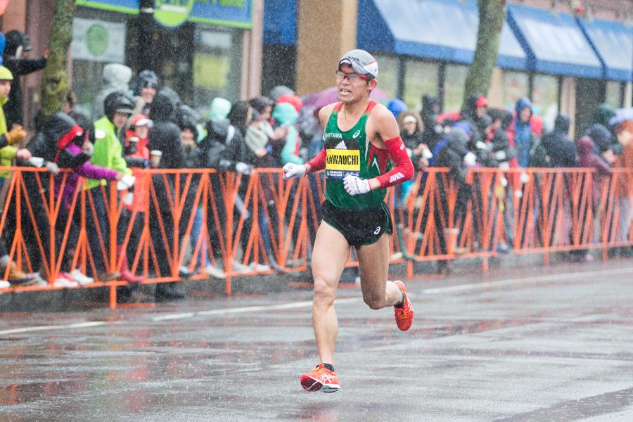 ボストンマラソンで優勝した川内優輝【写真:Getty Images】