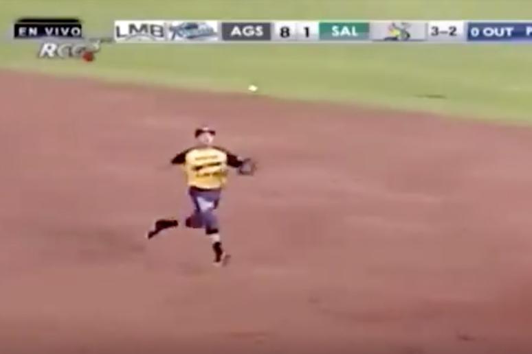 メキシコリーグで生まれたスーパープレーが話題に(この画像はスクリーンショットです)