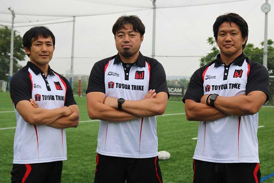 (左から)小野澤宏時さん、箕内拓郎さん、菊谷崇さん【写真:編集部】