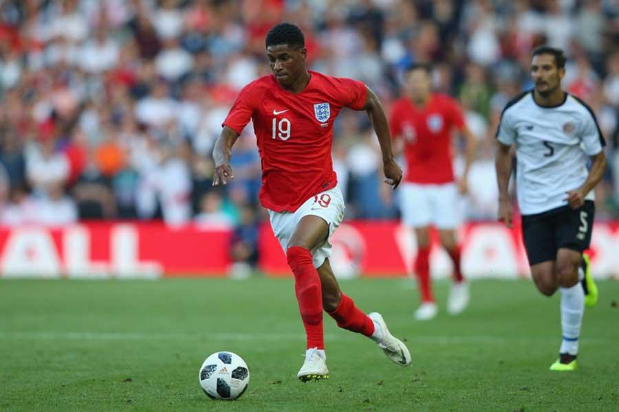 サッカーイングランド代表FWのマーカス・ラッシュフォード【写真:Getty Images】