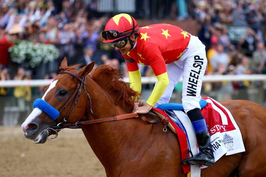 3冠を達成したジャスティファイ【写真:Getty Images】