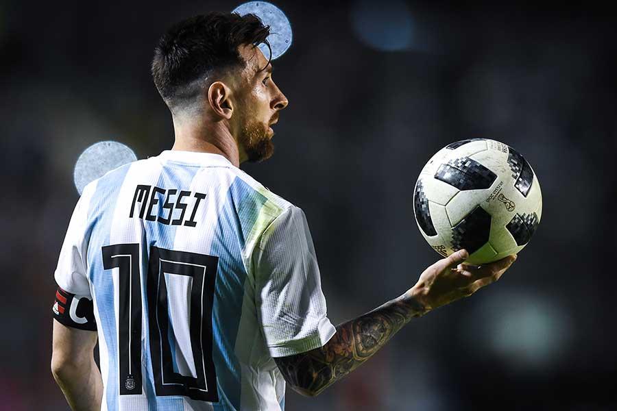 W杯注目の50人に選出されたアルゼンチン代表のメッシ【写真:Getty Images】